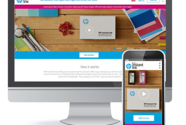 HP Instant Ink – website & onboarding